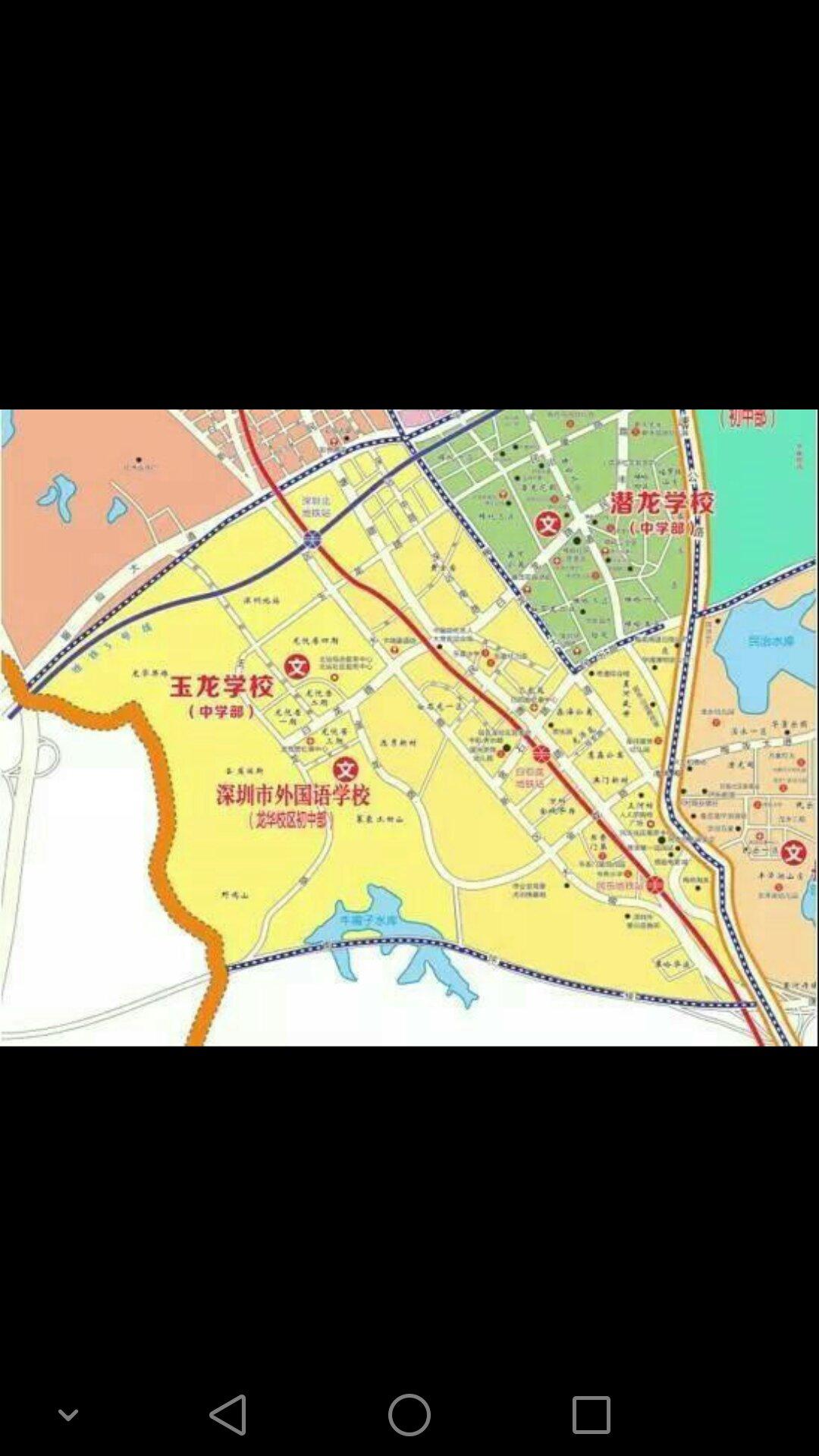 对深圳外国语语文龙华小学小学、学区学校划分课校区v语文阅读初中图片